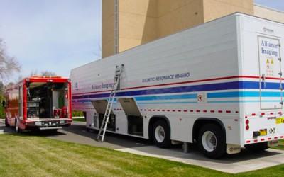 Mobile medical unit maintenance